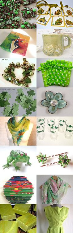 THE GREENS OF MARCH  from LGC TEAM shops by Ginger Clark on Etsy--Pinned with TreasuryPin.com