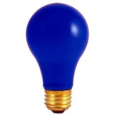 25 Watt Incandescent Standard A19 Medium Base Ceramic Blue/Set of 50 @Crowdz