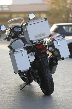 BUMOT Aluminum Luggage Systems for your V-Strom - Stromtrooper Forum : Suzuki V-Strom Motorcycle Forums