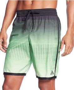 """adidas Printed 9"""" Volley Shorts - Swimwear - Men - Macy's Mens Sleepwear, Boys Swimwear, Men's Briefs, Sport Man, Gym Wear, Active Wear, Mens Fashion, Adidas, Boys Style"""