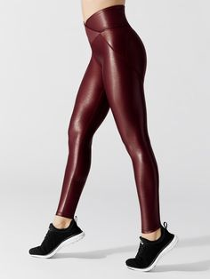 Crossover Leggings in Wine by Carbon38 from Carbon38