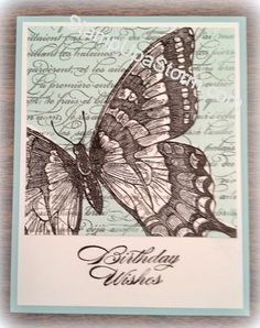 Swallowtail Stamp - Just a wonderful card that was swapped at Stampin' Up! leadership