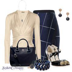 """Blue & White"" by jayhawkmommy on Polyvore"