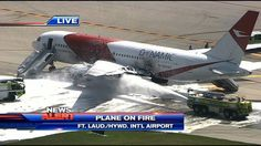 "10/29/2015 - FLL at ground stop after plane catches fire - The Boeing 767 passenger jet appears to have been taxiing when the left engine caught fire. The aircraft carries between 180 and 290 passengers. ""I'm told one of the engines caught fire as the plane was taxiing, getting ready for departure.  It's a good thing it never got offf the ground."