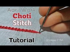 This video will show you aari embroidery choti / braid stitch tutorial * if you LIKE this video please give it a thumbs up. *SHARE this video with your frien. Embroidery Online, Tambour Embroidery, Silk Ribbon Embroidery, Embroidery Patterns, Zardosi Embroidery, Embroidery Stitches Tutorial, Embroidery Techniques, Cross Stitch Fabric, Brazilian Embroidery