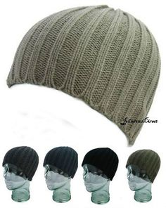 MENS BEANIE HAT cap SKULL KNITTED RIBBED WINTER HAT BNWT