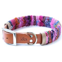 <p>The Sari Rag Rug dog collar from IKE AND STELLA combines a logo embossed tan leather collar and unique removable sleeve made from Indian rag rug. </p>  <p>Each dog collar is 100% handmade in Los Angeles and features a silver buckle and D-Ring. For every collar sold, $1 goes towards the welfare and rehoming of rescue pups in the Bahamas.</p>