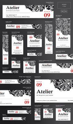 All of our best products in this gigantic bundle! Banner Design Inspiration, Web Banner Design, Brochure Design, Branding Design, Tumblr Banner, Digital Banner, Mobile Banner, Logos Retro, Display Ads