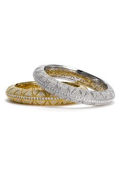 Wear with the gold and silver together to sparkle this holiday season Jewellery Sketches, Diamond Bangle, Crown Jewels, Amethyst, Nordstrom, Bangles, Wedding Rings, Bling, Gorgeous Gorgeous