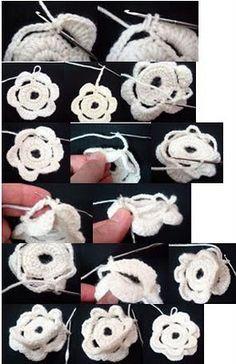 Free Crochet Tutorial: How to make crocheted flowers 2-