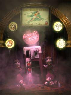 ArtStation - BioShock (Irrational Games), Digital Frontiers Irrational Games, Bioshock Series, Storytelling, Neon Signs, Digital, Artwork, Work Of Art, Auguste Rodin Artwork, Artworks