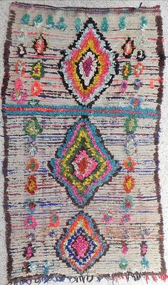 soft & colorful bohemian chic print rug