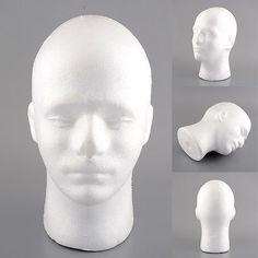 Male Styrofoam Foam Manikin Head Stand Mannequins Display Wig Glasses 54cm in Health & Beauty, Make-Up, Make-Up Tools & Accessories | eBay