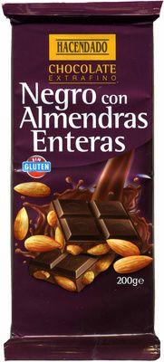 Tableta de chocolate negro con almendras 55% cacao - Producto