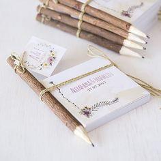 Natur Holz Bleistifte rustikal (5 Stück)