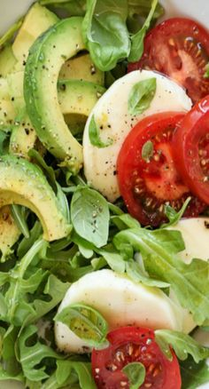 Avocado Caprese Salad - I love all the ingredients and it generally had a good flavor. Mine didn't come out as pretty as the picture. I tweaked it and will tweak it more in the future, maybe less dressing next time.