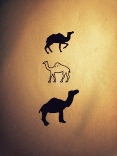 Black And White Camel Tattoos Designs
