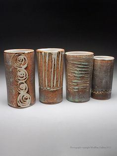 Julie Covington Vase Set at MudFire Gallery - I love these!