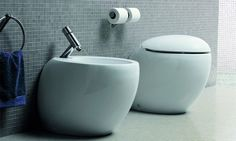 Ilbagnoalessi One floor standing bidet. Alessi, One Co, House Rooms, Beautiful Homes, Sink, Flooring, Toilets, Bathroom, Vacation Spots