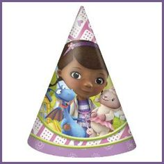 Doc McStuffins Party Hats, $2.69 Cdn pkg/8. http://www.allthatstuff.net/DocMcStuffins/doc-mcstuffins-party-supplies.html