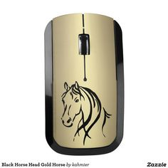 Black Horse Head Gold Horse Wireless Mouse