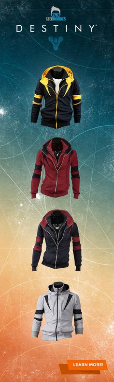 The Destined Hoodie #assassins #geek #menswear Shop for more awesome hoodies here: geekhoodies.com/