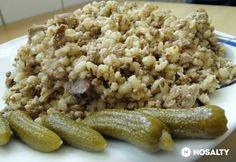 Darált húsos gersli Risotto, Beans, Vegetables, Ethnic Recipes, Food, Essen, Vegetable Recipes, Meals, Yemek