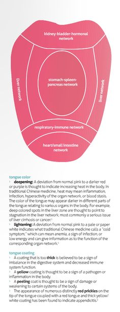 the tongue = a map to your health