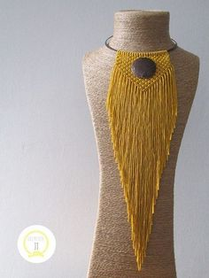 - You are my macrame, macrame. Series Accessories – Fair Masters ]Source by rkadriki Collar Macrame, Macrame Colar, Macrame Dress, Macrame Necklace, Macrame Knots, Macrame Jewelry, Diy Necklace, Diy Jewelry, Crochet Necklace