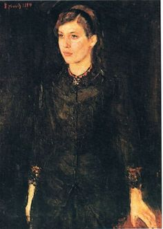Edvard Munch's early work: a portrait of his sister, Inger Munch,1884