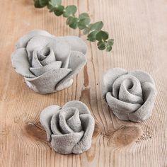 Rose aus Knetbeton