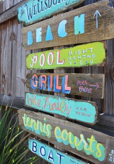 alisaburke: lettering with makewells: hand lettered directional signs