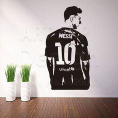 messi vinyl wall sticker removable
