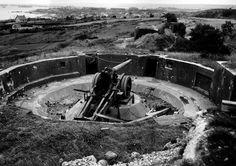 German 150-mm artillery position near Cherbourg, France, circa Jul 1944