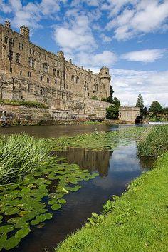 Warwick Castle and Avon River, Warwickshire, England
