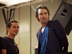 Lee Pace and Orlando Bloom at SDCC 2014.