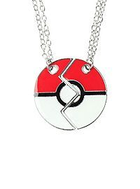 HOTTOPIC.COM - Pokemon Poke Ball Best Friends Necklace 2 Pack