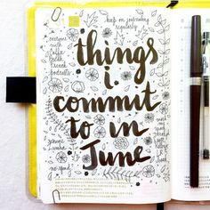 Things i commit to in june
