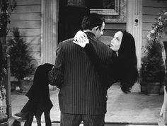 Carrying Morticia