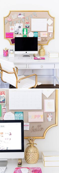 New Home Office Reveal! Home Office Space, Desk Area!Home Office Space, Desk Area! Home Office Space, Home Office Desks, Office Spaces, Office Furniture, Furniture Ideas, Bedroom Furniture, Office Cubicle, Home Office Organization, Office Decor
