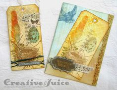 Creative Juice: Tim Holtz 12 Tags of 2014 - March