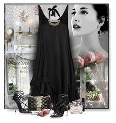 """Black dress"" by perla57 ❤ liked on Polyvore featuring STELLA McCARTNEY, Chanel, Dolce&Gabbana, Lanvin, Kobelli and Gucci"