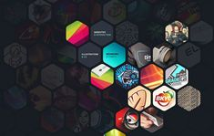 hexagon shape in web design - Andrei Gorokhov what if there was the reflective paint thing with this within the yearbook? need to look into paper.... :0