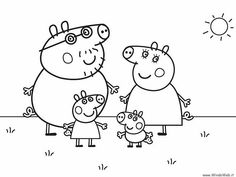 Nick Jr Coloring Pages Of Peppa Pig Through The Thousand Pictures On Net Concerning