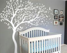Kindergarten Wall Decals White Wall Decal großer Baum Wand