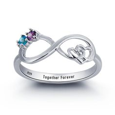 Cute Promise Rings, Promise Rings For Couples, Ruby Engagement Ring Vintage, Diamond Engagement Rings, Infinity Knot Ring, Infinity Heart, Infinity Jewelry, Infinity Promise Rings, Rings