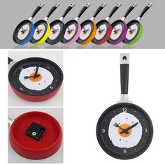 Compare Prices Lovely Design Fried Pan Clock Plastic Kitchen Wall Clock For Home Decoration Quartz Time #Wall #Murals
