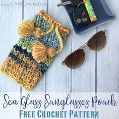 Sea Glass Sunglasses Pouch