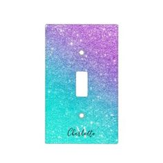 Rippling Tropical Blue Water Light Switch Cover | Zazzle.com Light Switch Art, Light Switch Covers, Small Dressing Rooms, Mermaid Home Decor, Glass Ceiling Lights, Water Lighting, Purple Glitter, Christmas Card Holders, Keep It Cleaner