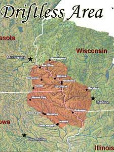 15,000 years ago, 2/3 of what is today Wisconsin lay under the grip of colossal ice sheets. The climate warmed and they began to melt back. In their wake, they left an impressive glacial landscape of fascinating landforms - moraines, drumlins, kames, kettles, eskers, outwash plains, erratics, meltwater channels, potholes, driftless (unglaciated) topography, glacial lake beds, islands and more. justintrails.com